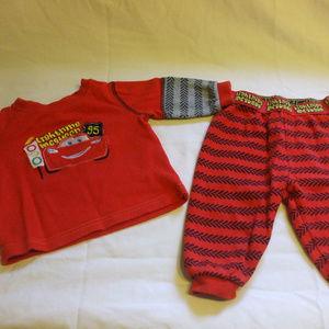 Lightning McQueen Pyjamas Top And Pants 3-6 months